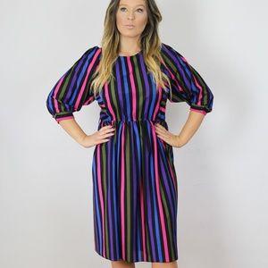 Vintage 80s Midi Dress